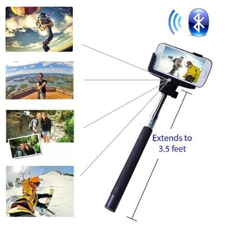 Minisuit Selfie Stick Pro Lite with Built-In Remote for Apple