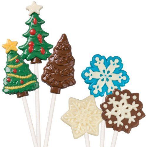 Snowflake Chocolate Sucker or Chocolate Pop Mould Christmas Mould