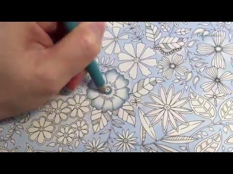 Secret Garden The Magical Water Lily Pond Coloring With Colored Pencils Secret Garden Coloring Book Secret Garden Colouring Johanna Basford Coloring Book