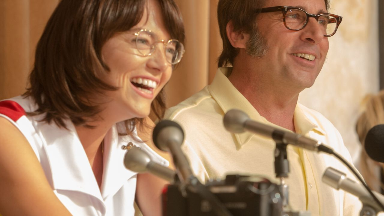 The Smartly Engaging And Depressingly Relevant New Movie Is A Blast From The Past Loaded With Lessons For The Future Steve Carell Emma Stone Billie Jean King