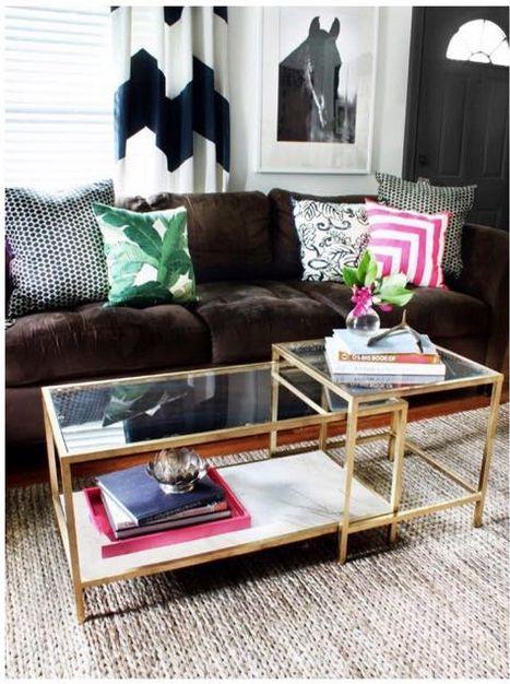 Gold Und Glas Und Couchtisch Sofa Styling Ikea Home Decor