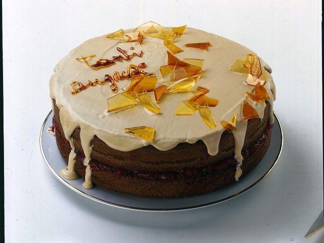 Decorazioni Torte Salate : Donna moderna torta di compleanno al caramello foto torte