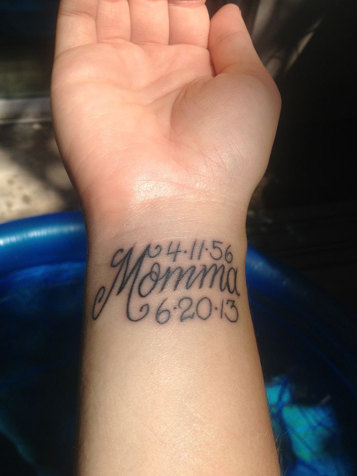 mommy wrist tattoos google search tattoos pinterest memorial tattoos tattoo and wrist. Black Bedroom Furniture Sets. Home Design Ideas