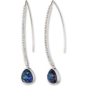 Women's Judith Jack Mirage Blue Abalone Drop Earrings Blue/Silver