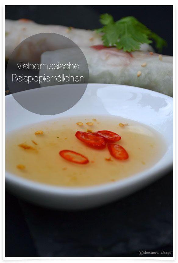 Vietnamesische Reispapierröllchen