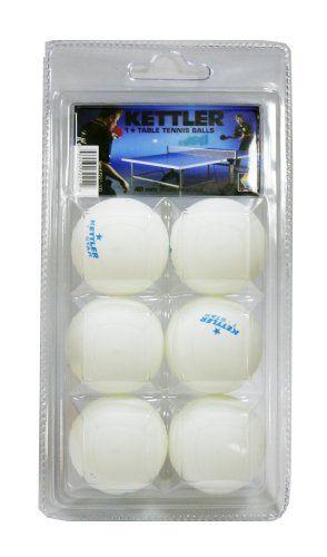 Kettler 1-Star Table Tennis Balls, 144-Pack (White) by Kettler. $27.19. 1* TT BALLS, 24 PACKS OF 6
