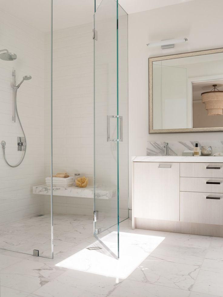 Image result for frameless shower door | frameless walk in corner ...