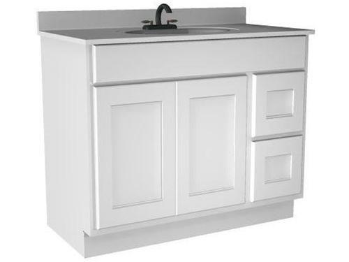 Briarwood 42 W X 21 D X 34 1 2 H Cottage Vanity Sink Drawers