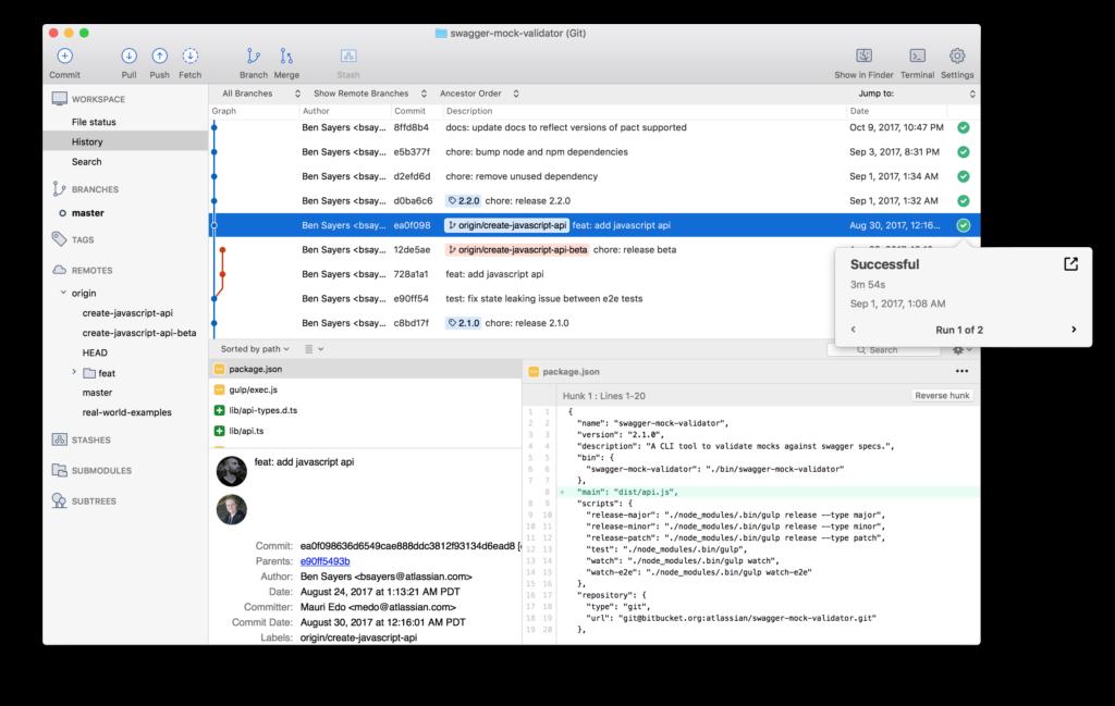 Build Status Within Sourcetree For Macos Sourcetree Blog App Development Design Resume Sample Resume