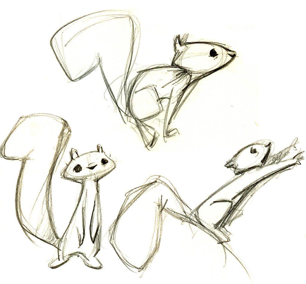 Eichhörnchen Zeichnungen Bilder Illustration Eichhörnchen