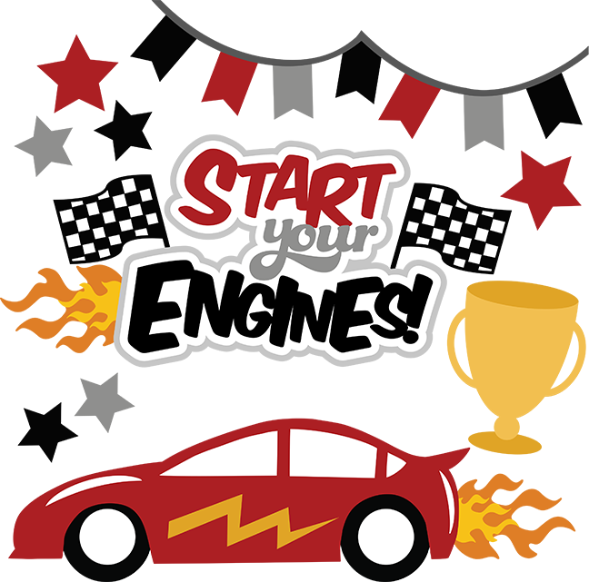 Start Your Engines SVG files for scrapbooking