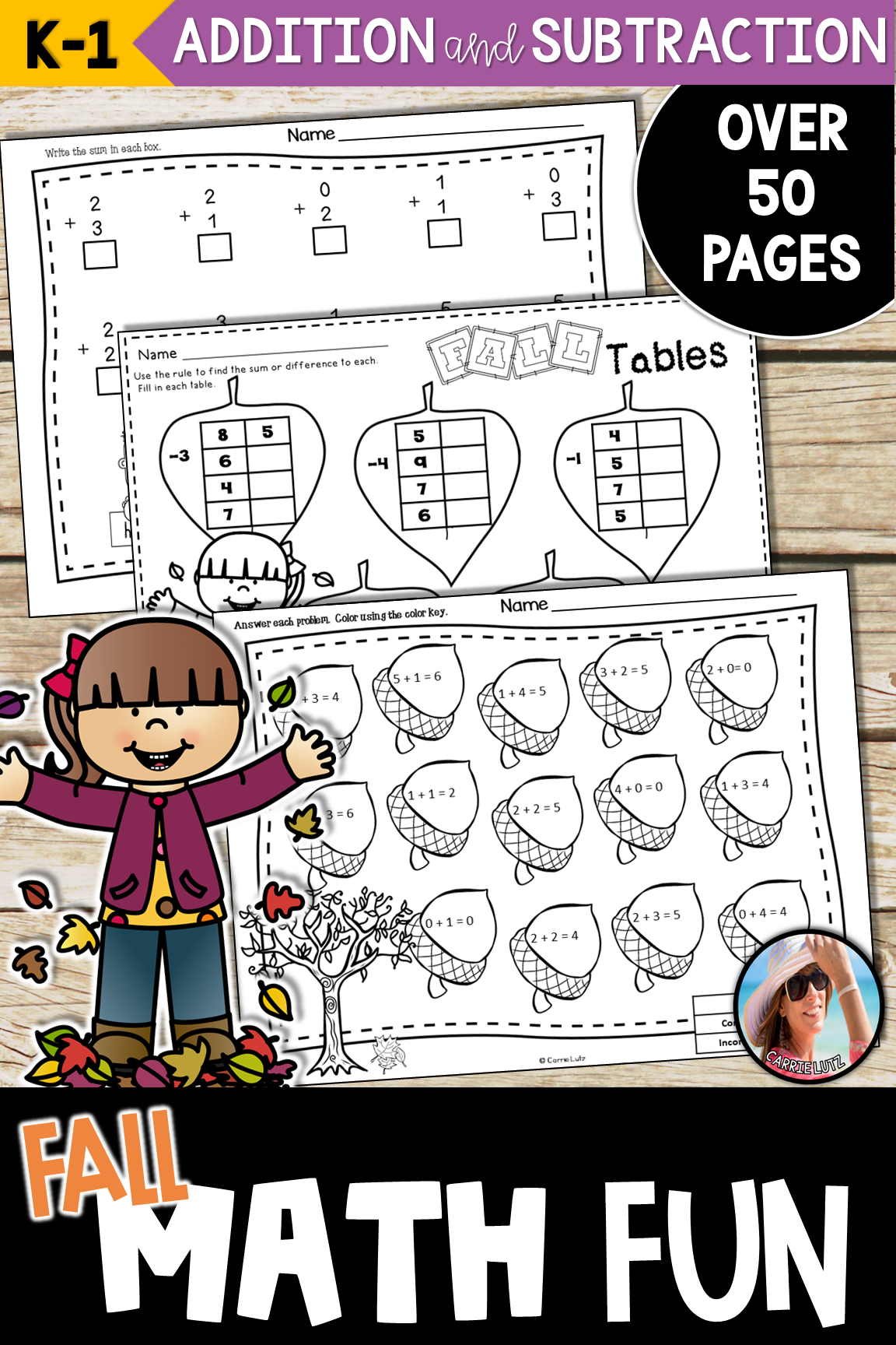Fall Addition And Subtraction Worksheets