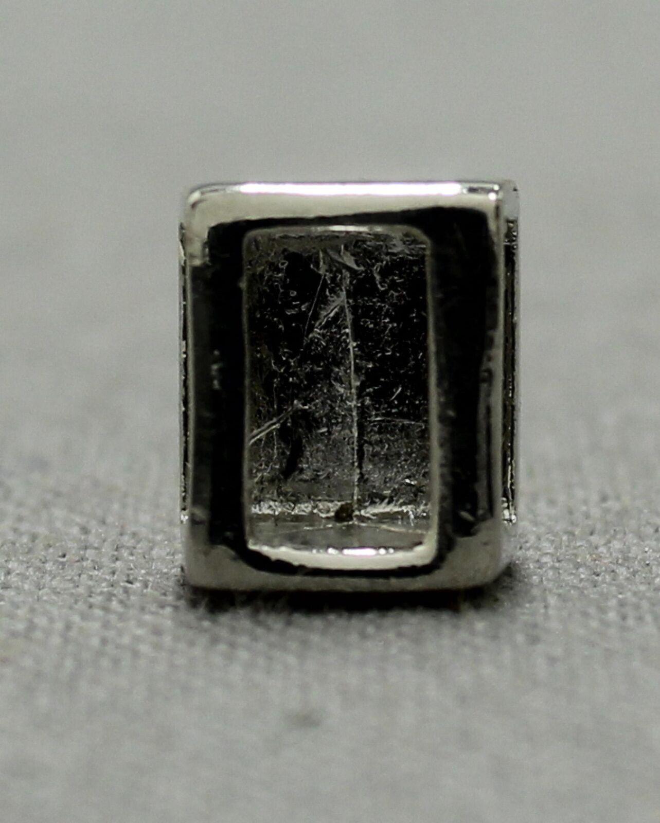 """1//4/"""" slide Charm for Slide Keep Keeper or Ribbon Bracelet Necklace 6mm"""