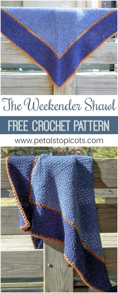 The Weekender Shawl Crochet Pattern Weekender Shawl And Stylish