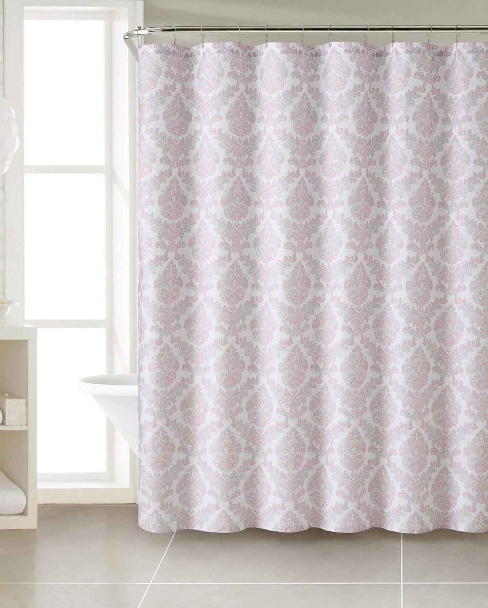 Royal Bath Coral Damask Heavy Fabric Shower Curtain (72\