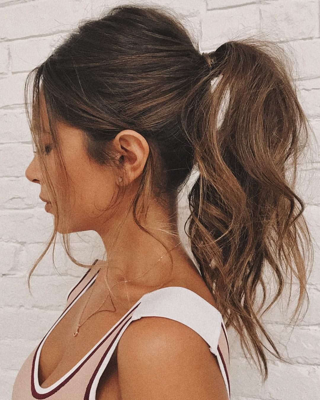 High Pony Ponytail Hairstyle Highpony Curls Mariannahewitt High Ponytail Hairstyles Hair Styles Tail Hairstyle