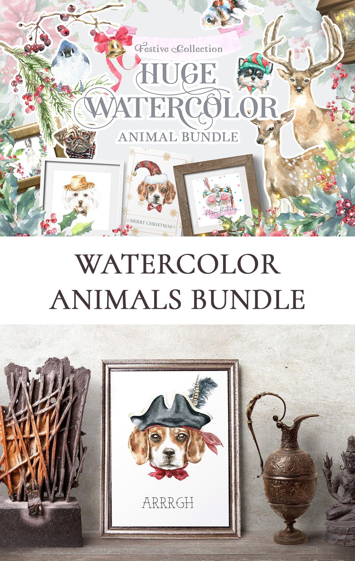 Watercolor Animals Bundle