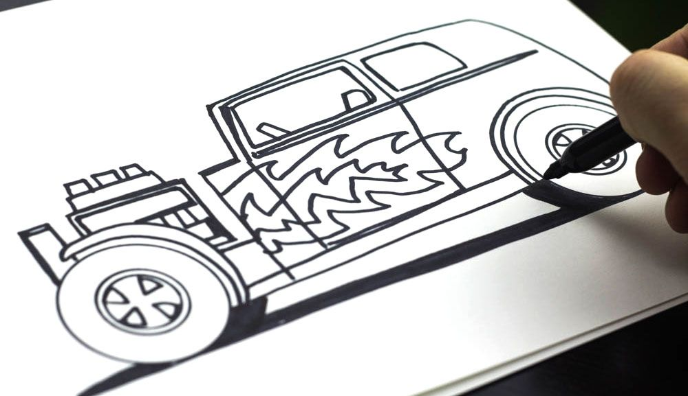 Line Drawing Car : Lots of how to draw tutorials family pinterest doodles art