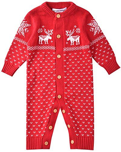 zoerea unisex newborn baby romper long sleeve christmas sweaters coat deer red 0 3months tag 6m check out this great image
