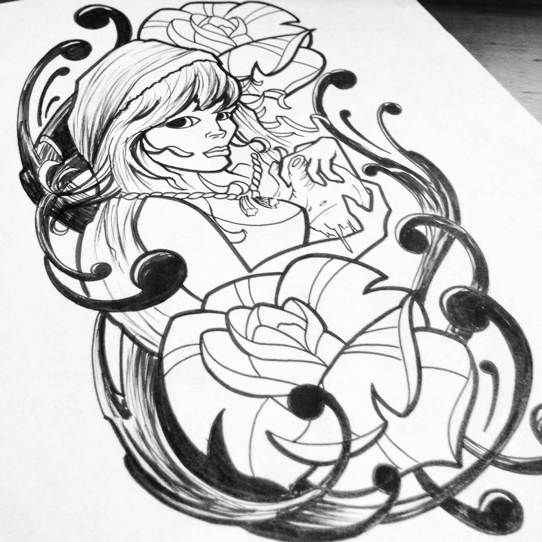 Red Riding Hood Tattoo Design...