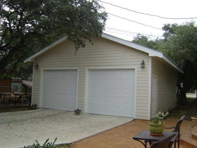 30x35 foot free standing 2 car garage storage buildings and san antonio home improvements contractor for roofing decks patios outdoor kitchens landscape lighting and outdoor living twt exterior solutioingenieria Image collections