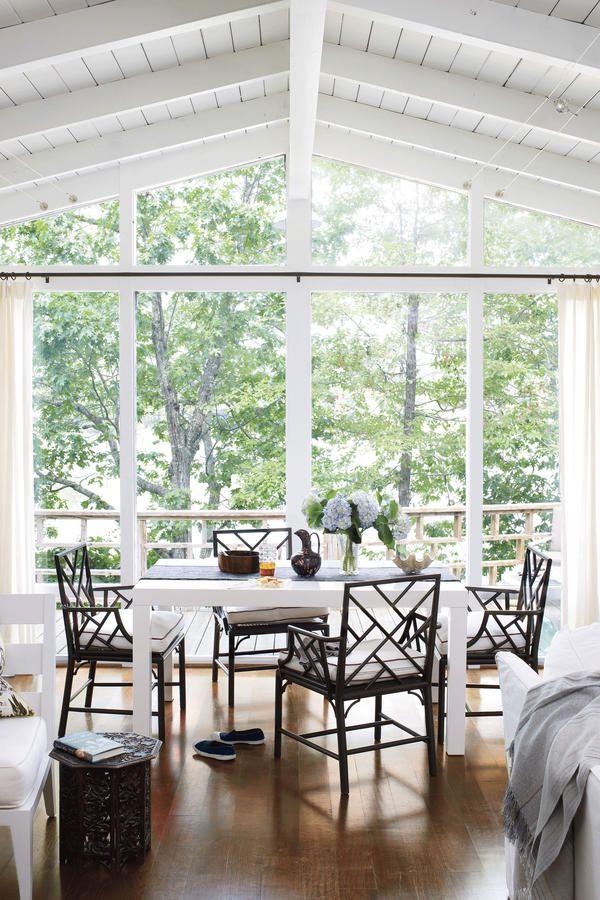 Lake House Decorating Ideas: Modern Lake House, Dining Room Sets