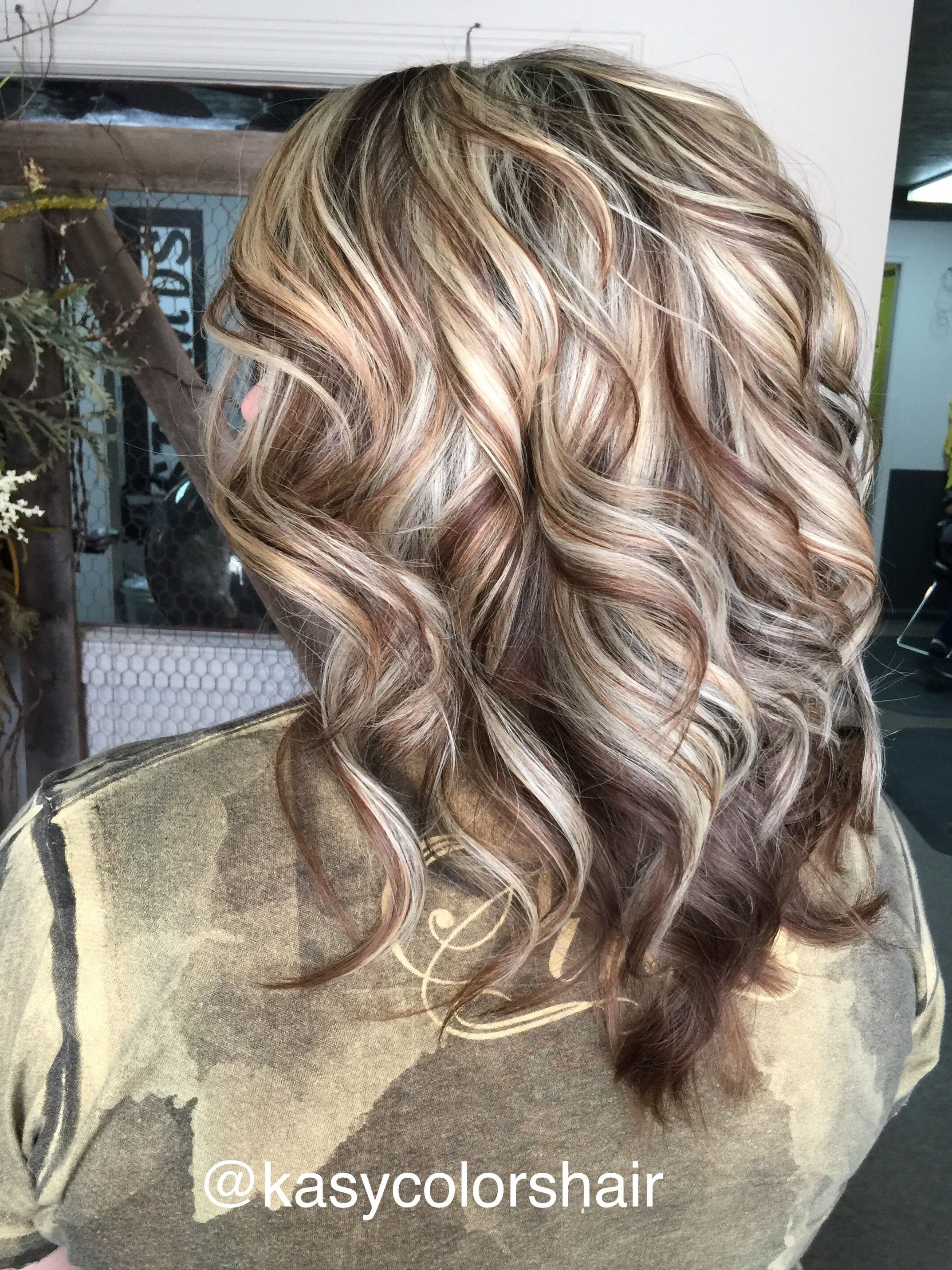 Blonde highlight & brown lowlight kasycolorshair lewisburgtn