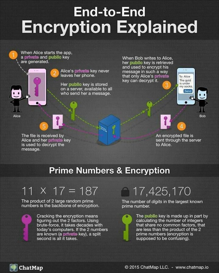 EndtoEnd Encryption Explained... Infographics InfoSec