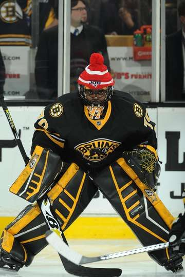 Malcolm Subban Wearing A Patriots Do Your Job Hat Over His Mask
