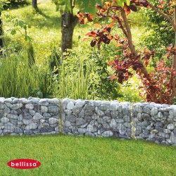 Retenue De Terre De Jardin En Gabion 100 X 50 Cm Sans Galet