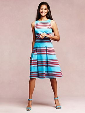 9f9dda6bf5a Talbots - Mirrored-Stripe Dress