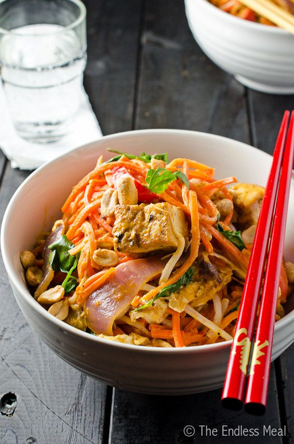 Carrot Noodles With Thai Peanut Sauce
