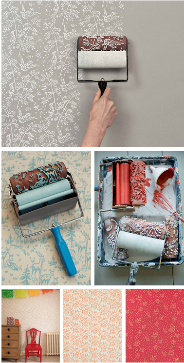 Painting Is Getting So Easy Now Days Patterned Paint Rollers Home Diy Home Deco