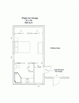 Single garage conversion plans google search moms room - Garage conversion floor plans ...
