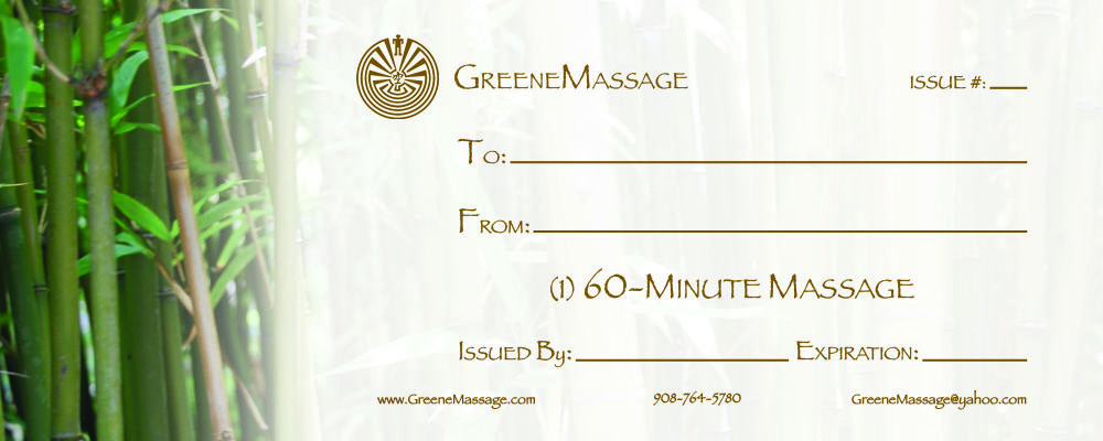Massage therapy gift certificate templates holistic