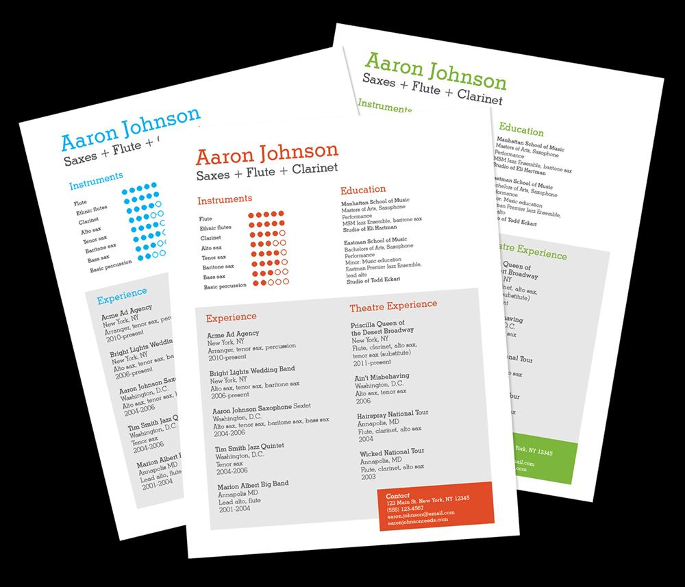 musician resume template home resume templates