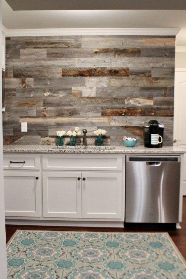 Barn Wood Revamps Beautiful Ways To Repurpose It Basement Kitchen Kitchen Remodel Basement Decor