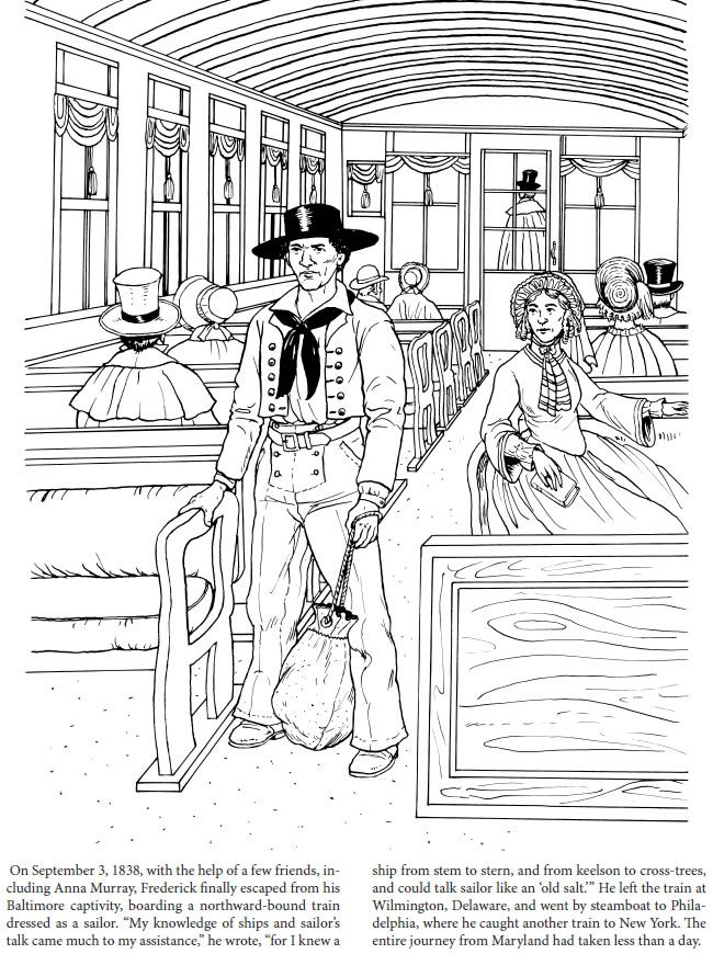 Frederick Douglass Coloring Book Dover Publications With Images