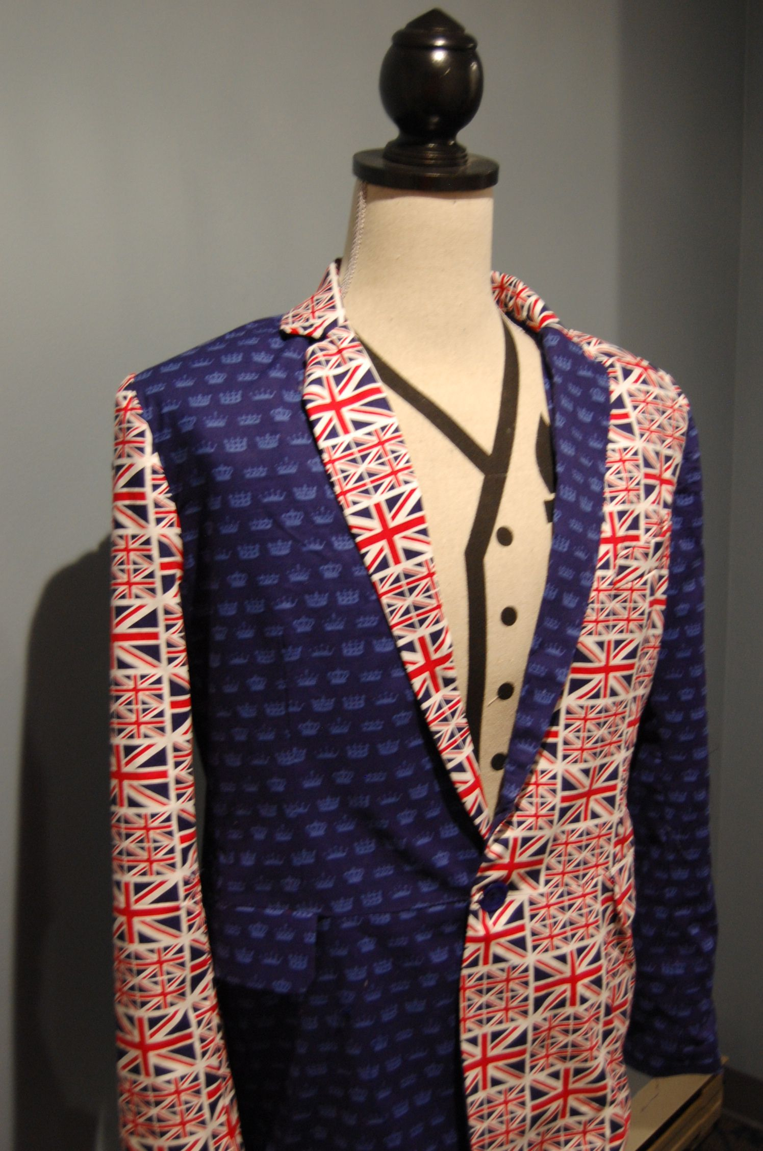 Blue Crown And Union Jack Fabric Fromhttpwwwpacificfabricscom