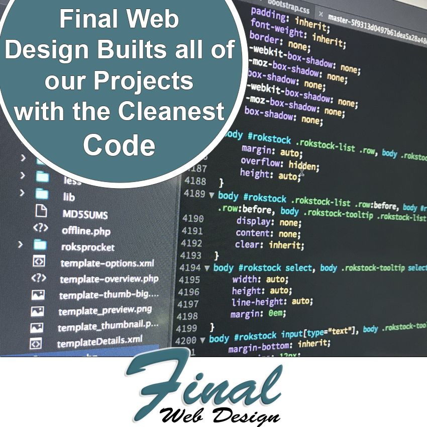 Custom coding services include HTML, CSS, PHP, MySQL, JavaScript and