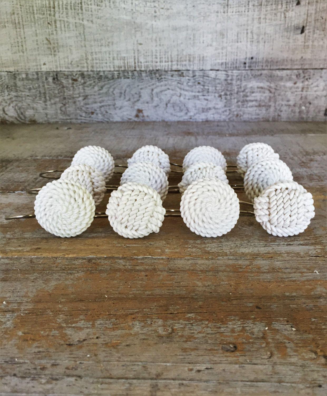 Curtain Hook 12 Drapery Hooks Rope Knot Shower Curtain Hooks