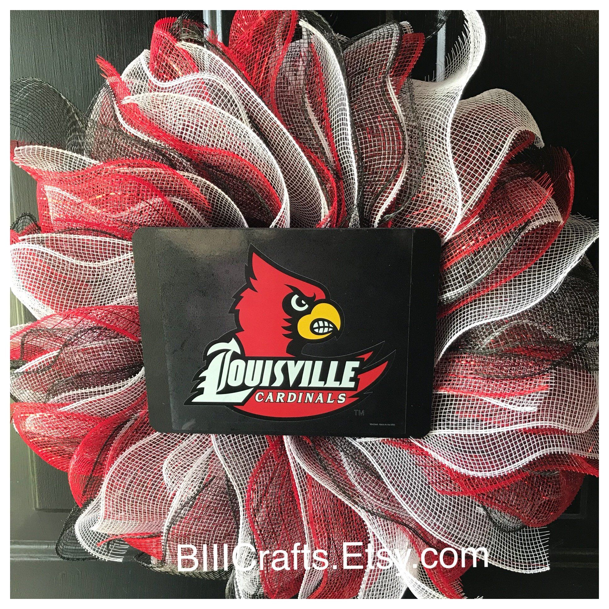 University Of Louisville Cardinal Custom Made Wreath For Any