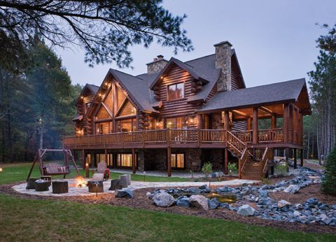 Tomahawk Log Companies Home Cabin Homes Countryhomedecorating Loghomeplans