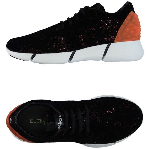 Elena Iachi Low-tops & Sneakers (£172) ❤ liked on Polyvore featuring shoes, sneakers, black, low top, flat sneakers, animal print sneakers, animal print shoes and black flat sneakers