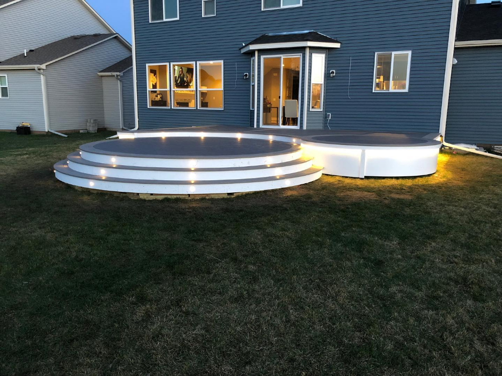 Customer Submitted Inspiration Gallery Decksdirect Step Lighting Outdoor Led Deck Lighting Solar Deck Lights