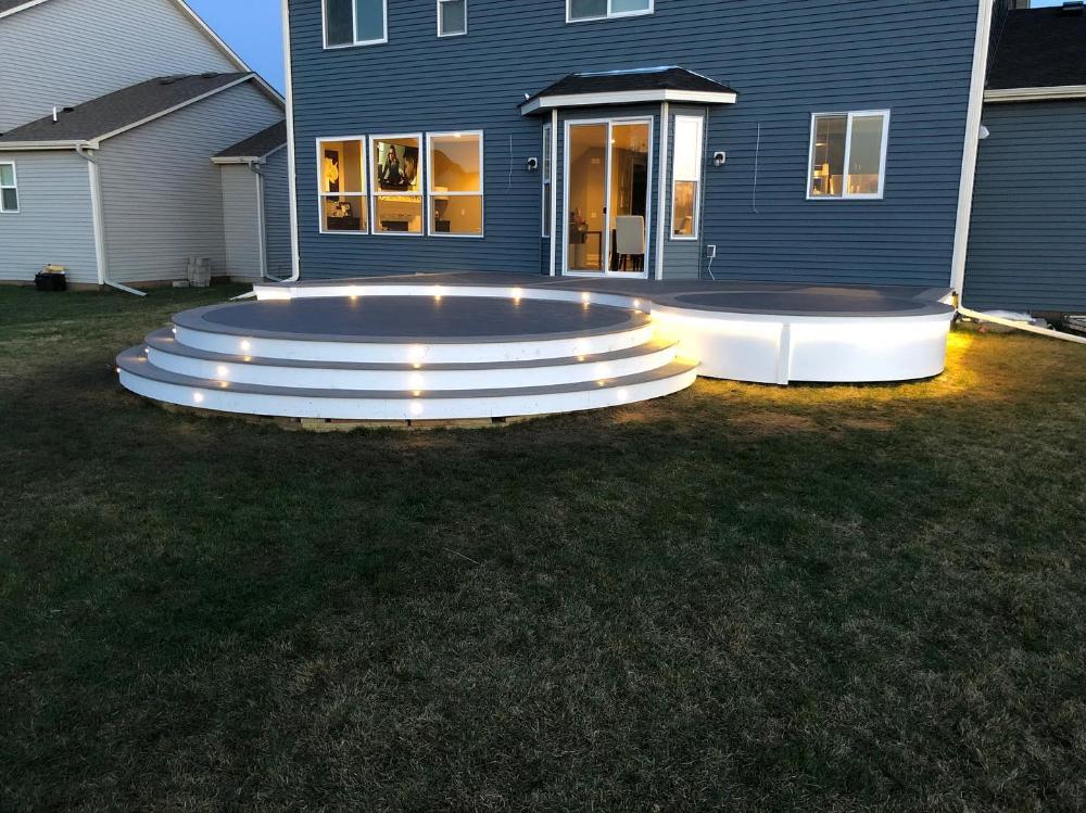 Customer Submitted Inspiration Gallery Decksdirect Step Lighting Outdoor Led Deck Lighting Solar Deck Lights