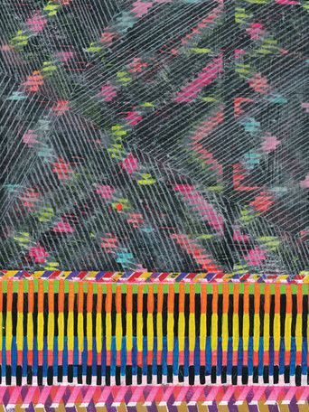 'New York 1306' by Jennifer Sanchez Graphic Art on Wrapped Canvas