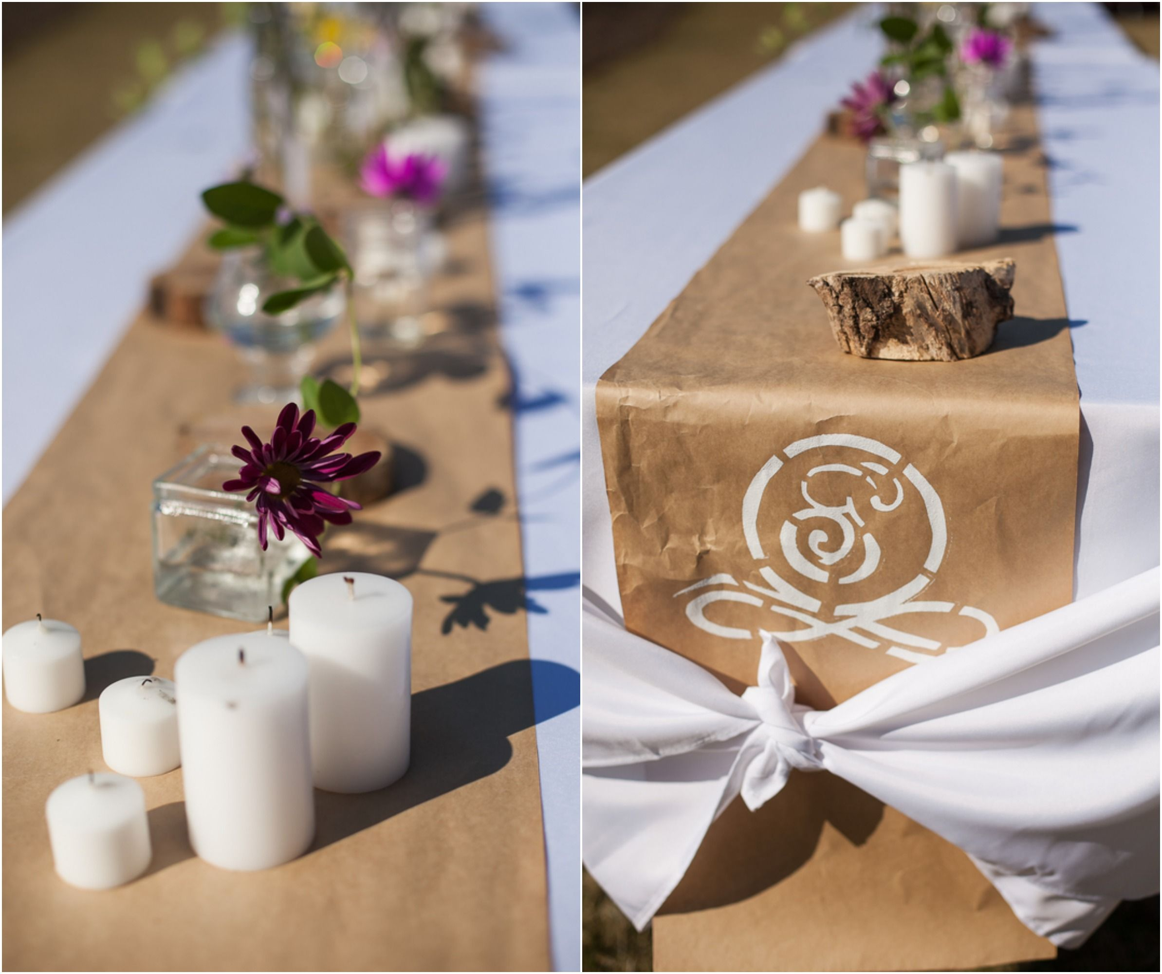 Industrial Style Wedding Paper Table Kraft Paper And