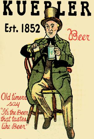 1930's Kuebler Beer & Ale 4x6 Refrigerator / Tool Box Magnet, $5.95