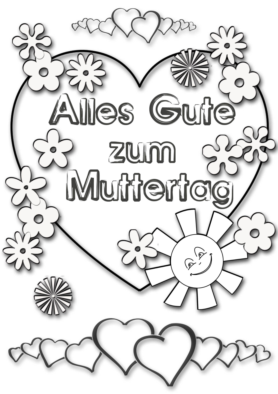 Ausmalbilder Geburtstag Mutter : Muttertag Ausmalbild Malvorlage Gru Mit Herz Zum Muttertag